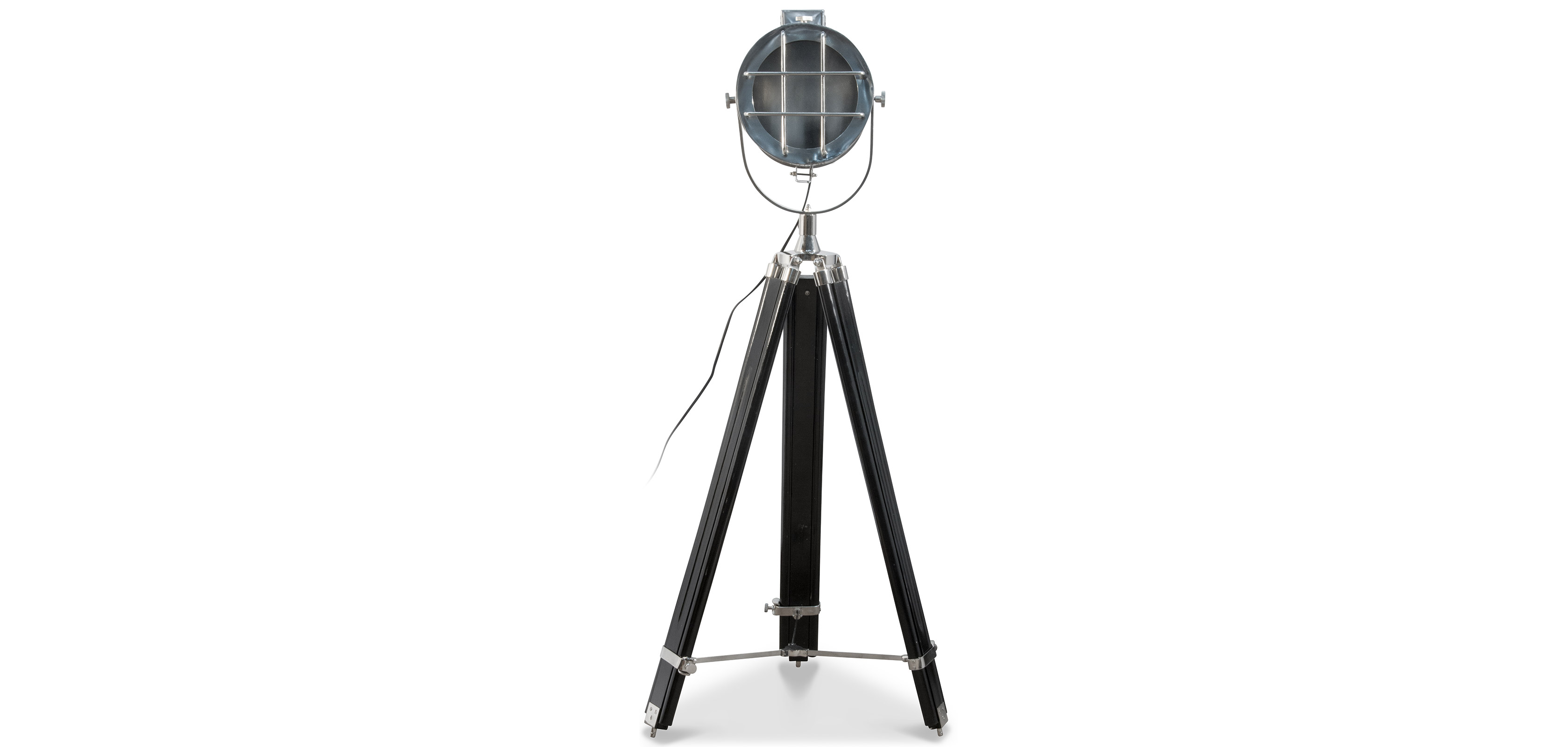 Vintage nautical tripod projector floor lamp design stainless vintage nautical tripod projector floor lamp design stainless steel and wood black height adjustable mozeypictures Images