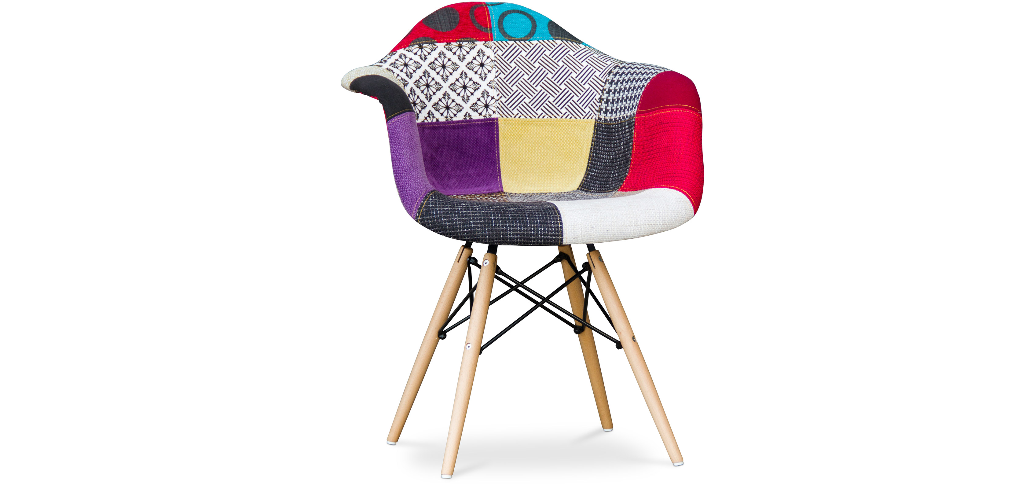 chaise eames patchwork chaise with chaise eames patchwork top eames rar patchwork edition with - Chaise Patchwork Eames