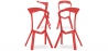 Buy Design Bar Stool Marcus - Pack of 4 Red 51361 in the Europe