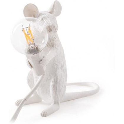 Buy Mouse table lamp Seletti Style White 58832 - prices
