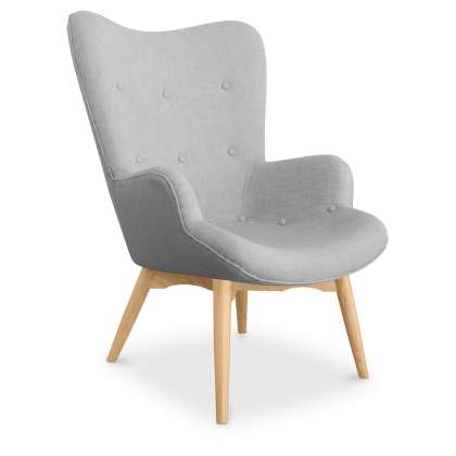 Buy Contor Lounge Chair - Scandinavian Design  Light grey 16782 home delivery