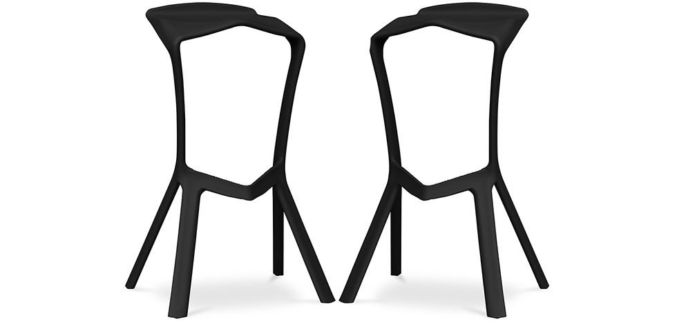 Buy Marcus Design Bar Stool - Pack of 2 Black 59484 - in the EU
