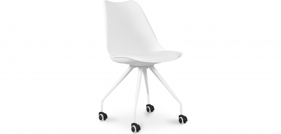Buy Scandinavian Office chair with Wheels - Dana White 59904 - in the EU