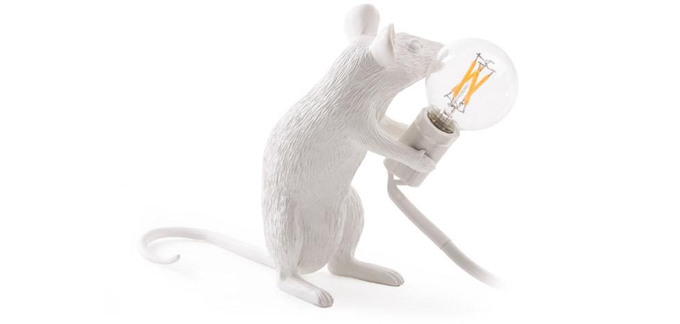Buy Mouse table lamp - Resin White 58832 - in the EU