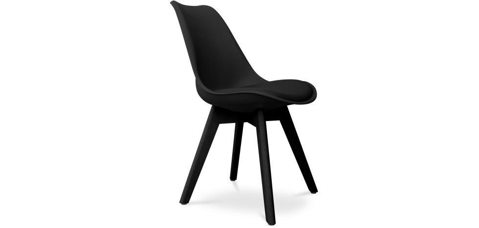 Buy Premium Deswood Scandinavian Design black chair with cushion Black 59277 - in the EU