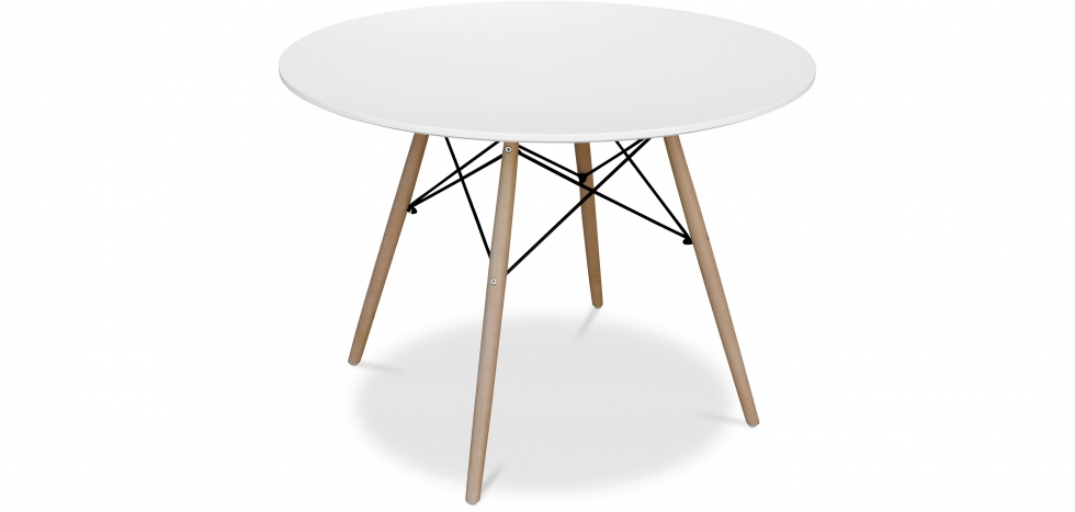 Deswood Table 100 cm - Wood - Upper View