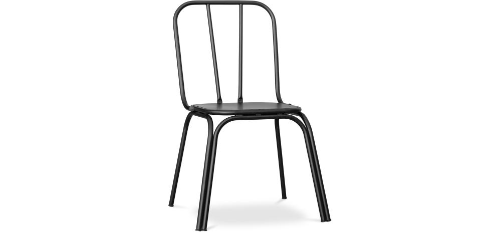 Buy Kira industrial style dining chair - Metal Black 59402 - in the EU