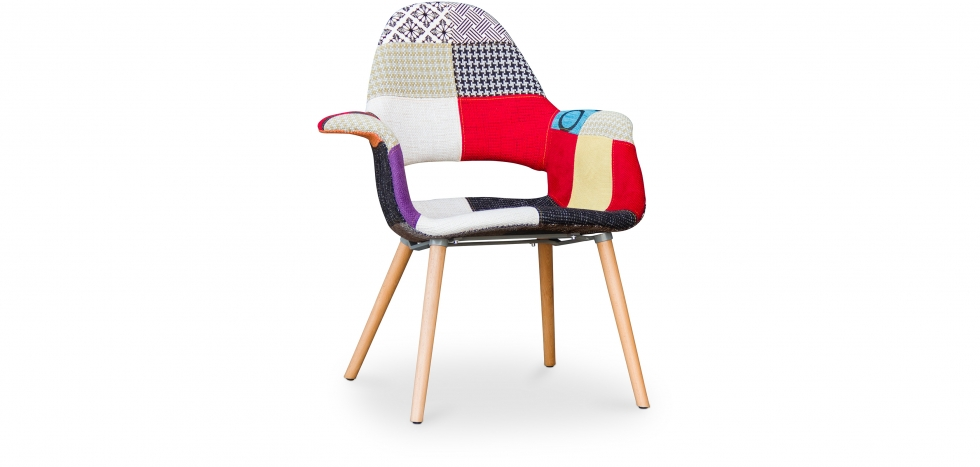 Buy Organy Scandinavian design Chair - Patchwork Multicolour 58675 - in the EU