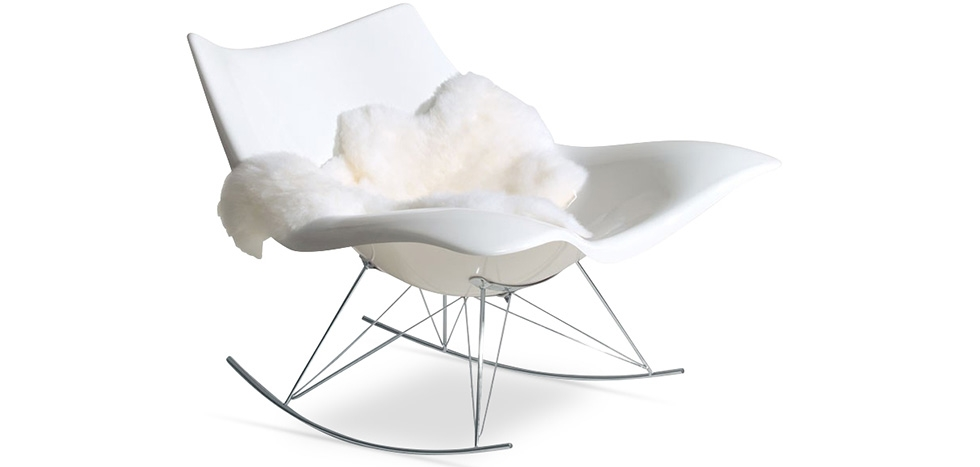 Stin Rarwood Chair - Fiberglass - Angled View