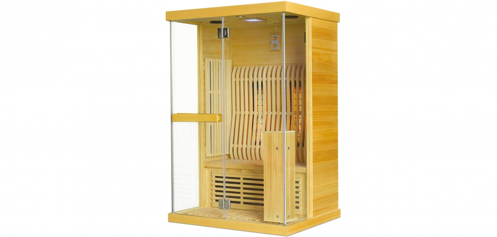 Buy Infrared sauna for 2 people Natural wood 58589 - in the EU