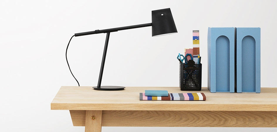 Study Table with Lamp