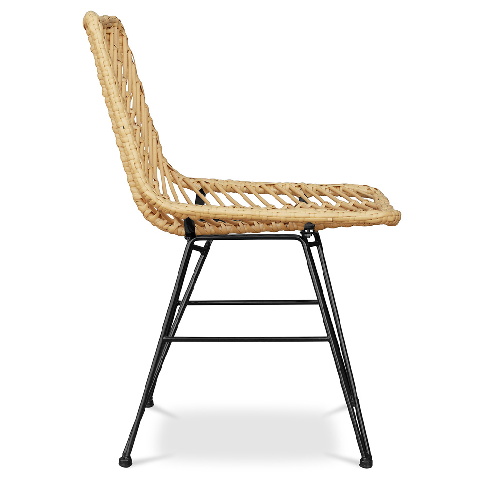 Buy Synthetic Wicker Dining Chair Valery Natural Wood 59254 In The Europe Myfaktory