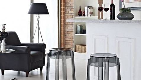 Two Stools near Sofa