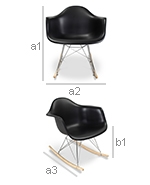 Rarwick Rocking Chair - PP Matt - Dimensions