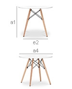 Deswood Kids Table - Wood - Dimensions