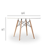 Deswood Table 100 cm - Wood - Dimensions
