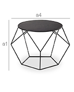 Diamond Side Table - Dimensions