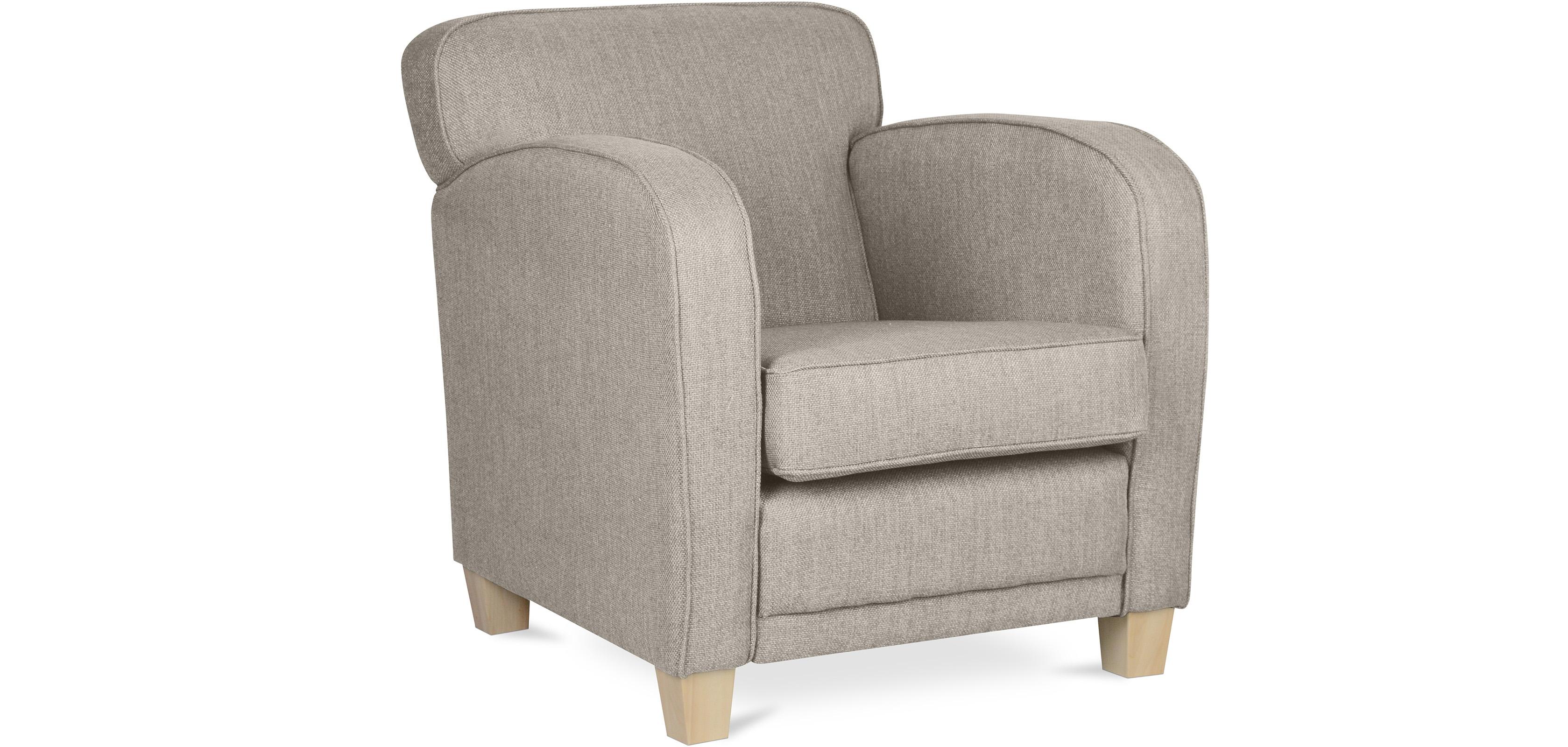 Buy Isabella Scandinavian style armchair - Fabric Ivory ...