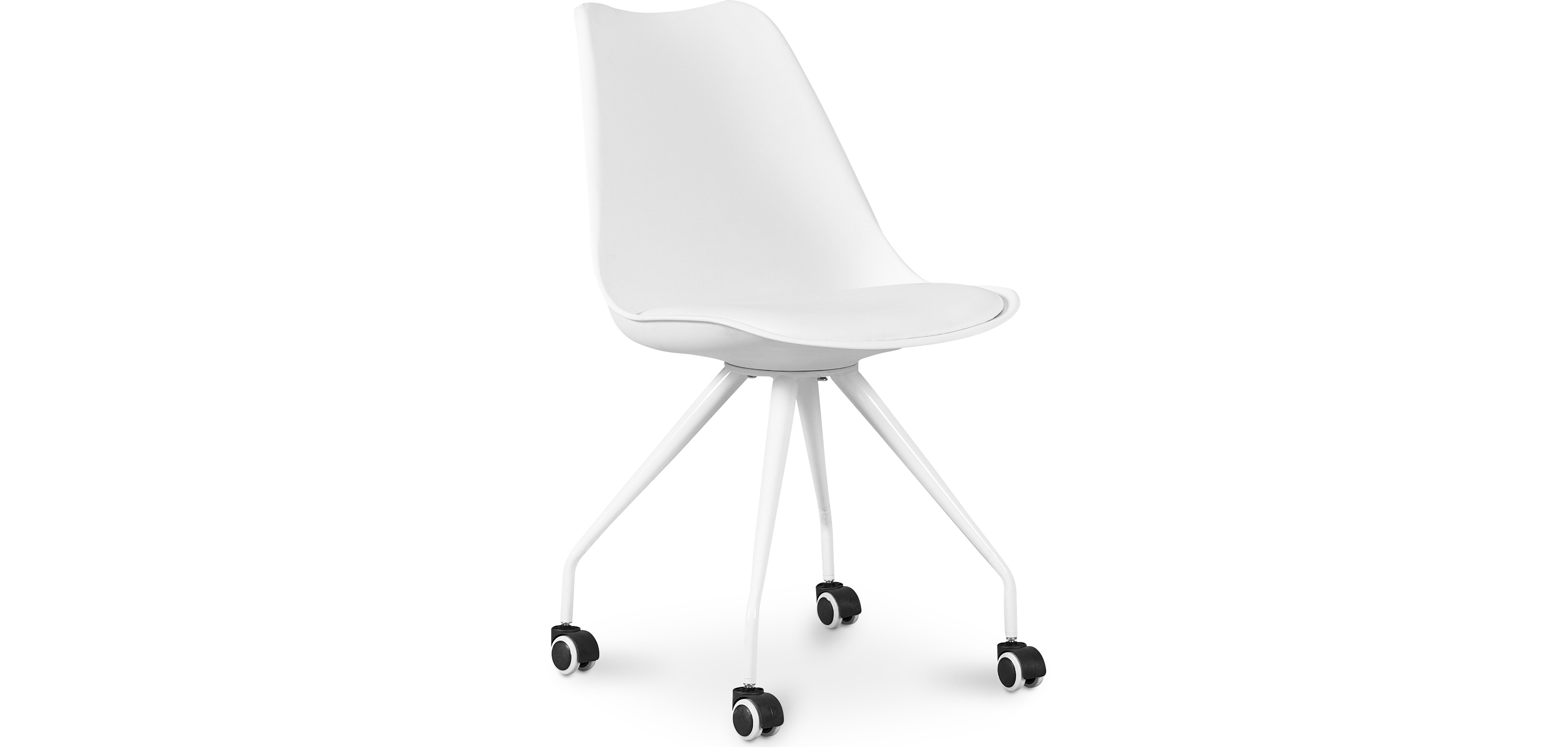 Buy Scandinavian Office chair with Wheels - Dana White 59904 - in the EU
