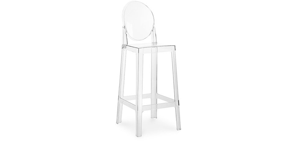 Buy Bar stool with backrest Victoria - 75cm - Premium Quality  Transparent 58924 - in the EU