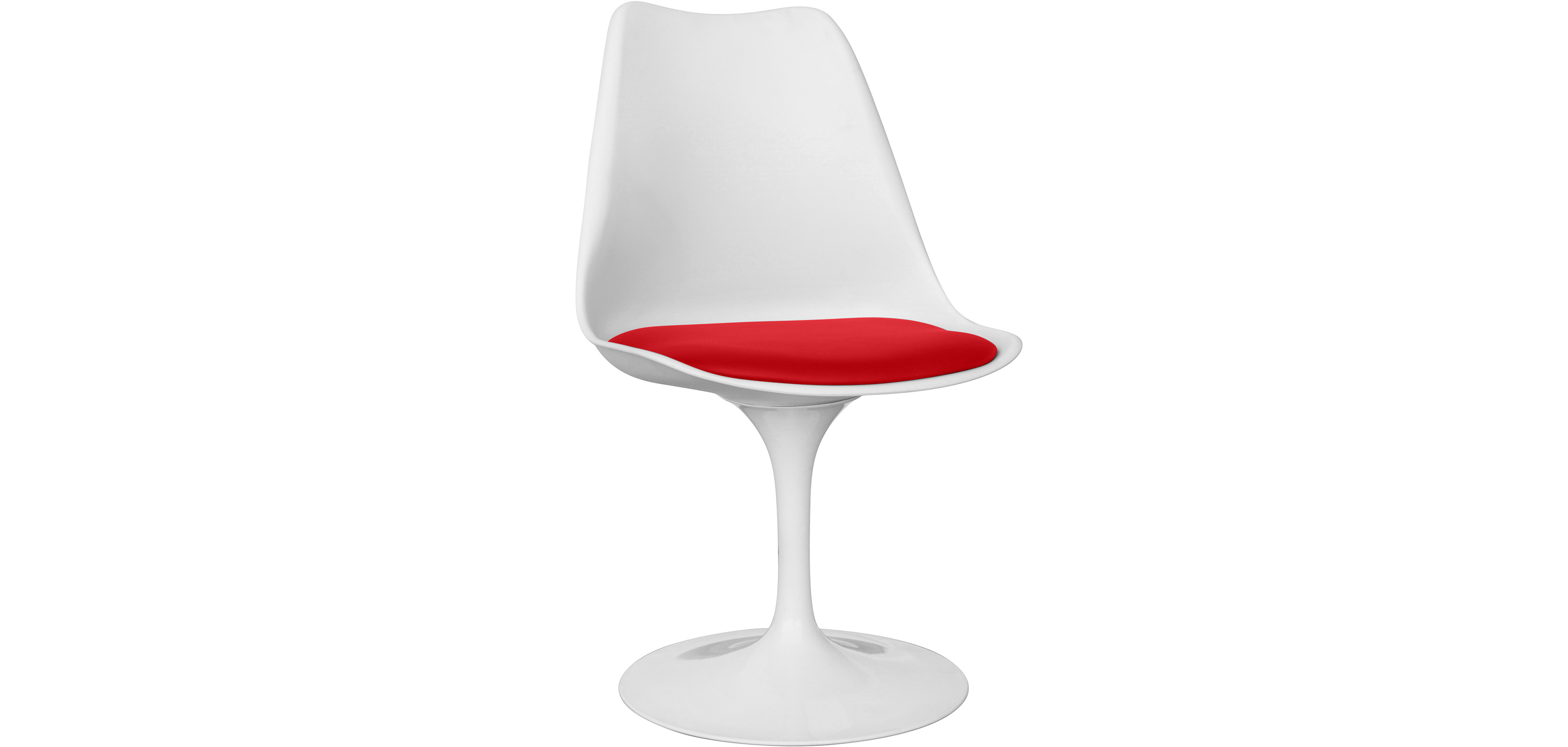 Buy White Tulipa chair with cushion Red 59156 - in the EU