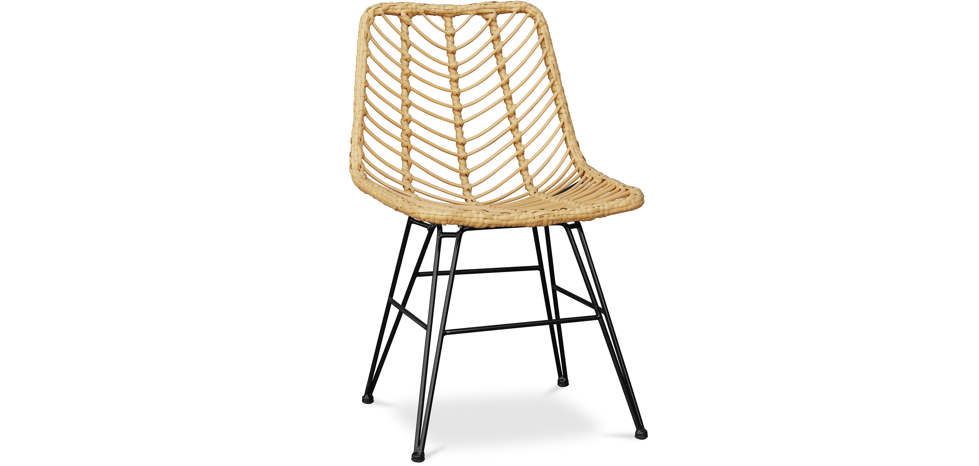 Buy Synthetic wicker dining chair  Natural wood 59254 - in the EU