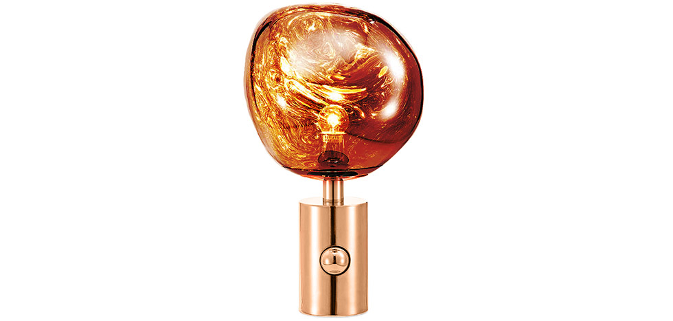 Buy Lava Design table lamp - Acrylic and metal Bronze 59485 - in the EU