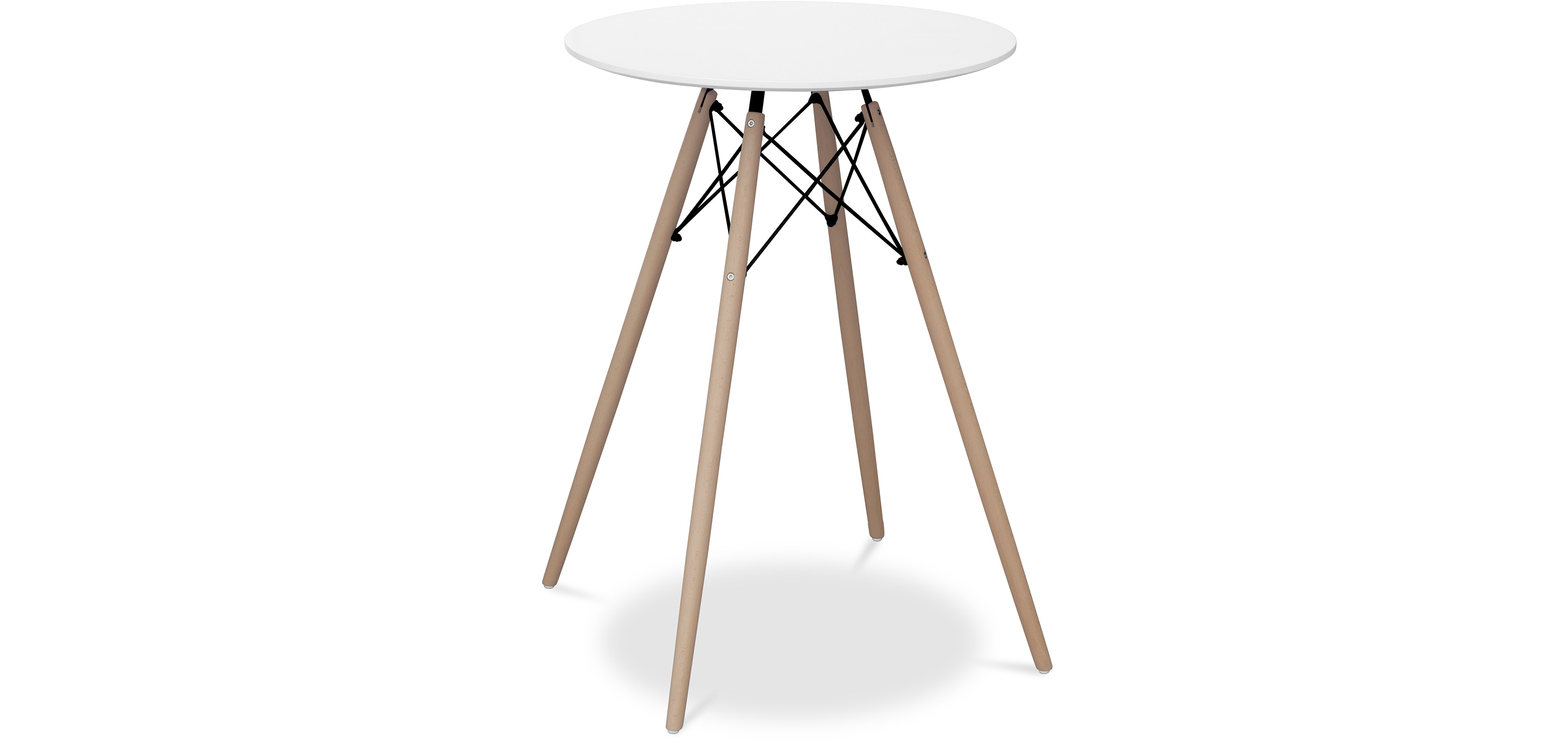 Buy Deswood High table for bar stool White 58378 - in the EU