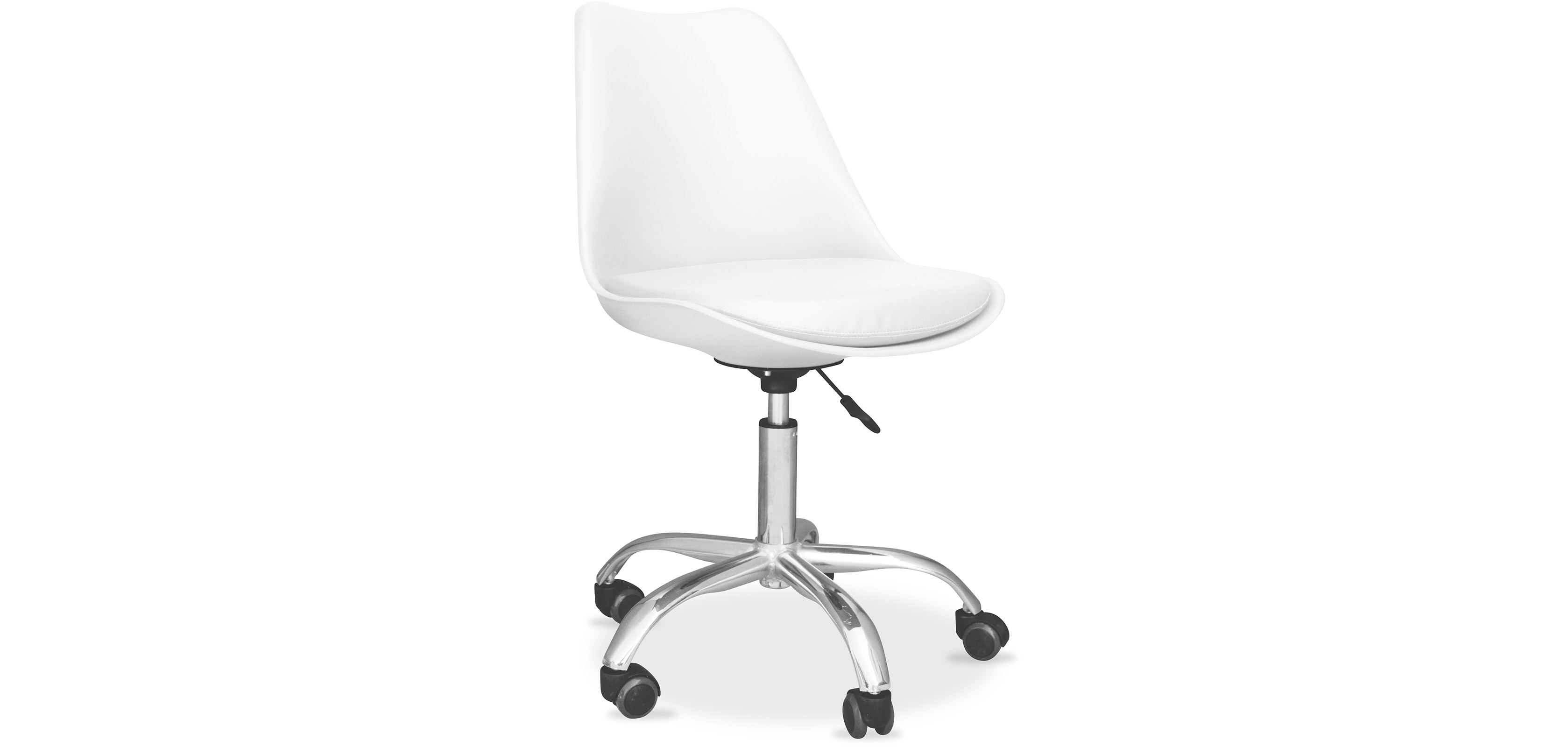 Buy Tulip swivel office chair with wheels White 58487 - in the EU