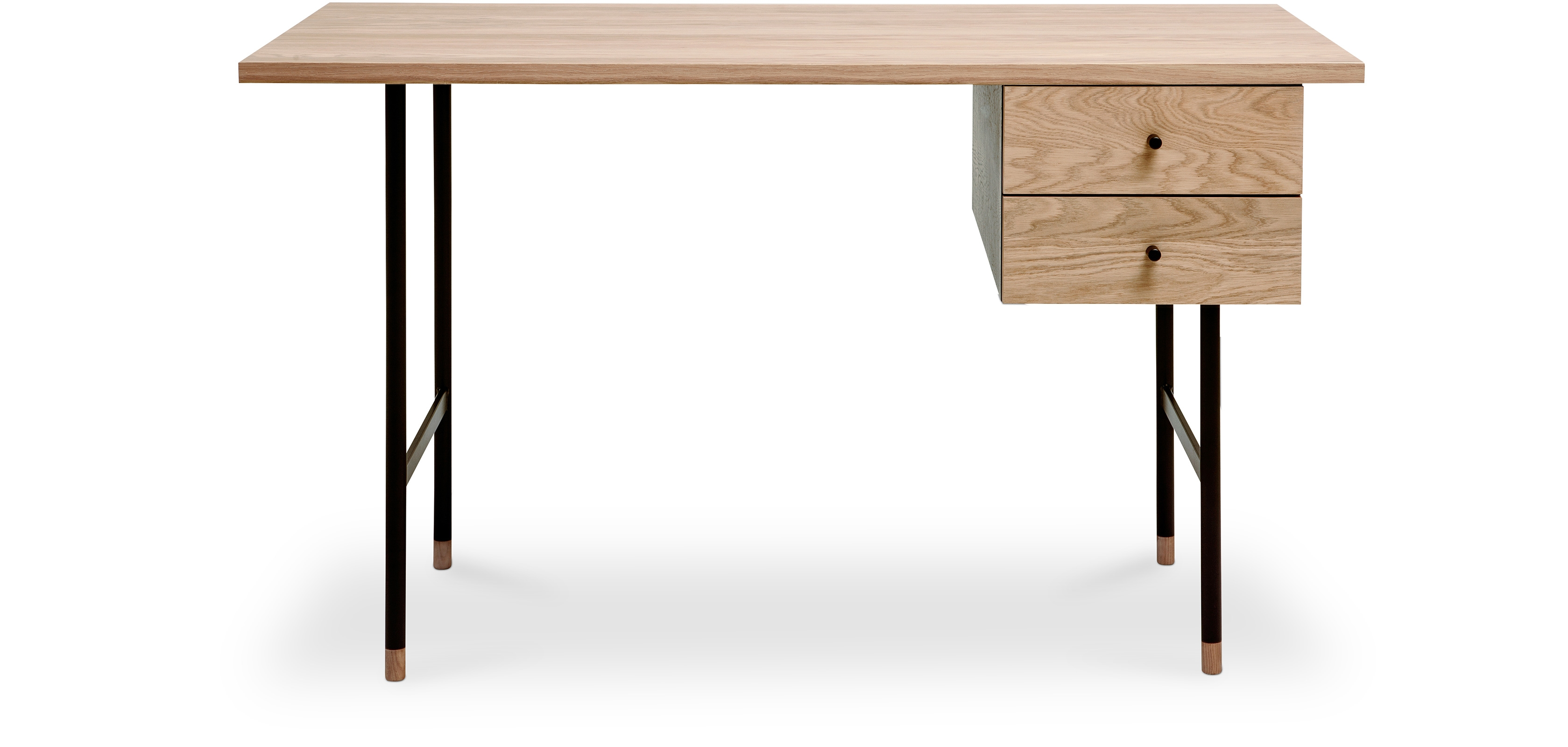 Buy Scandinavian style wood and metal desk with drawers Natural wood 58654 - in the EU